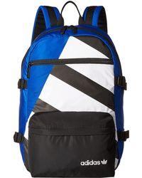 14bae0761b adidas Originals - Originals Equipment Blocked Backpack (white black)  Backpack Bags - Lyst
