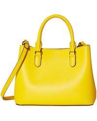 Lauren by Ralph Lauren Dryden Super Smooth Leather Marcy Ii Satchel Mini - Yellow