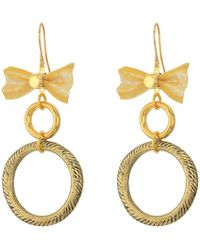 Vanessa Mooney | The Mesh Bow Hoop Earrings | Lyst