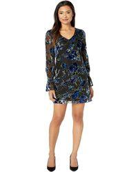 Laundry by Shelli Segal - Long Sleeve Velvet Burnout Dress (multi) Women's Dress - Lyst