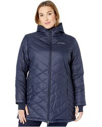 c3c49fb32 Columbia Plus Size Heavenly Long Hooded Jacket (nocturnal) Women's ...