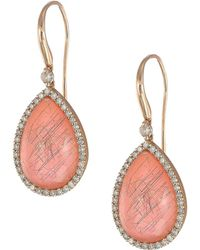 Roberto Coin - Cocktail Collection Earrings 18kt (pink Agate) Earring - Lyst