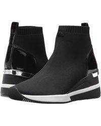 0dc84c1c1e62 MICHAEL Michael Kors - Skyler Bootie (black Soft Knit patent) Women s Boots  -