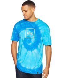 Huf - Box Logo Tie-dye Short Sleeve Tee - Lyst