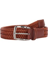 Torino Leather Company 35 Mm Italian Woven Stretch Leather - Brown