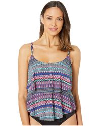 24th & Ocean Plus Size Pursuit Tiered Tankini Top