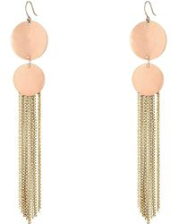 Lucky Brand | Rose Gold And Gold Drama Earrings | Lyst