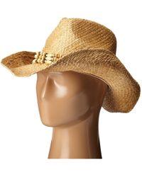 San Diego Hat Company Rhc1078 Raffia Cowboy Hat With Beaded Band - Natural