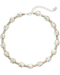 Robert Lee Morris Organic Bead Wire Wrapped Collar Necklace - Metallic