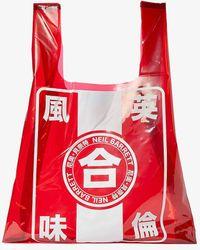 Neil Barrett New Printed Pvc Supermark Bag - Red