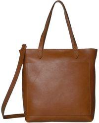 Madewell The Medium Transport Tote W/ Inset Zipper Handbags - Brown