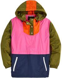 J.Crew Esper Color-block Anorak - Pink