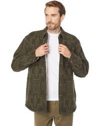 Pendleton Sherpa Lined Shirt Jacket - Green