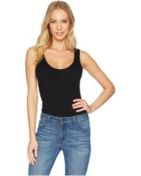 Michael Stars - Cotton Lycra Sleeveless Bodysuit (black) Women's Jumpsuit & Rompers One Piece - Lyst