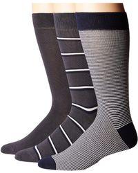 Lacoste | 3-pack Striped Jersey Cotton Blend Socks | Lyst