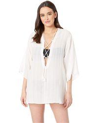 7b2b3f5839 Robin Piccone - Michelle Tunic Cover-up (white) Women's Swimwear - Lyst