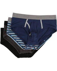 Pact Everyday Brief 4-pack (multi) Men's Underwear - Gray
