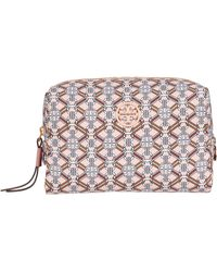Tory Burch Piper Printed Small Cosmetic Case - Pink