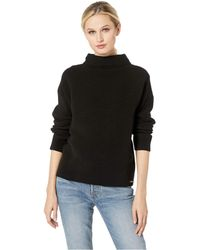 Ivanka Trump - Mock Neck Long Sleeve Sweater (black) Women's Sweater - Lyst