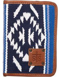 STS Ranchwear Durango Serape Magnetic Wallet - Blue