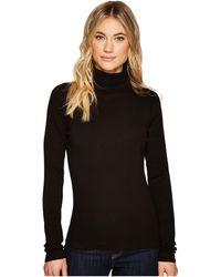 Three Dots - Heritage Rib Long Sleeve Turtleneck (black) Women's Sweater - Lyst