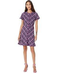 Kate Spade Plaid Tweed Dress - Purple