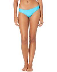 Volcom Simply Solid Cheeky Bottoms Swimwear - Blue