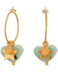 Madewell Moulded Acetate Heart Hoop Earrings Pack - Metallic