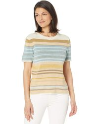 Pendleton Stripe Short Sleeve Sweater Tee Clothing - Multicolor