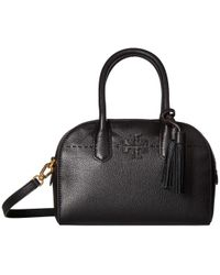 Tory Burch - Mcgraw Small Satchel (black) Satchel Handbags - Lyst