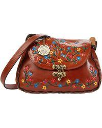 Patricia Nash Micaela Baguette Flap Crossbody Handbags - Brown