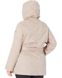 Columbia Plus Size Pardon My Trench Rain Jacket - Natural