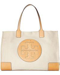 3cca1cb50799 Tory Burch - Ella Canvas Tote (natural ivory) Handbags - Lyst