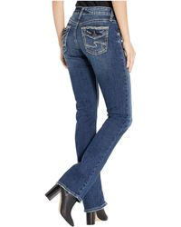 Silver Jeans Co. Avery High-rise Curvy Fit Slim Bootcut Jeans In Indigo L94613ssx318 - Blue