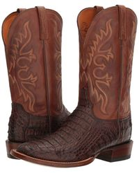 Lucchese - Chavez (barrel Brown) Cowboy Boots - Lyst