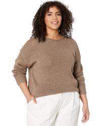 Lauren by Ralph Lauren Plus Size Cotton-blend Sweater - Metallic