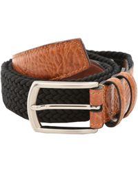 Torino Leather Company 32mm Italian Woven Multi Cotton Elastic - Black
