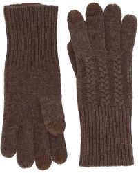 Pendleton Cable Gloves - Brown