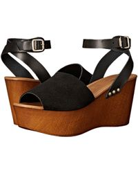 9a2d490941 Lyst - Seychelles Fight Fire with Fire Colorblock Suede Wedge Gray ...