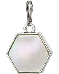 ALEX AND ANI Mother-of-pearl Necklace Charm - Metallic