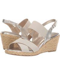 a301592ab79d Bandolino - Hearsay Espadrille Sandal (blue) Women s Wedge Shoes - Lyst