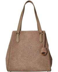 Lauren by Ralph Lauren - Huntley Tote (taupe) Tote Handbags - Lyst
