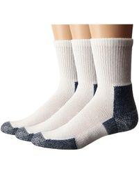 Thorlo - Running Crew 3-pair Pack (white/platinum) Crew Cut Socks Shoes - Lyst