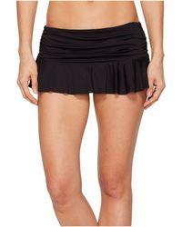 Lauren by Ralph Lauren Solid Ruffle Skirted Hipster Bottom - Black