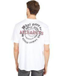 AllSaints Rounder Short Sleeve Crew Clothing - White