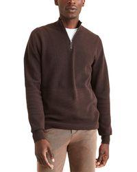 Dockers Regular Fit 1/4 Zip Sweater - Brown