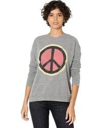 The Original Retro Brand Super Soft Haaci Peace Sign Pullover - Gray