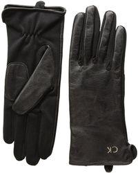 CALVIN KLEIN 205W39NYC - Leather Gloves W/ Knit Tonal Palm - Lyst
