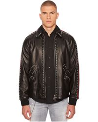 DSquared² - 50s Leather Jacket - Lyst