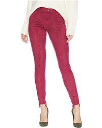 Hue - High-low Step Ankle Hem Suede Leggings (beet Red) Women's Casual Pants - Lyst